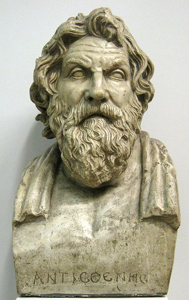 A classical bust of Antisthenes the cynic