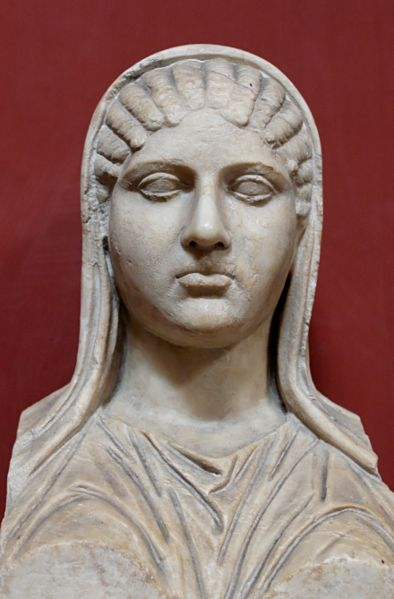 A classical bust of Aspasia