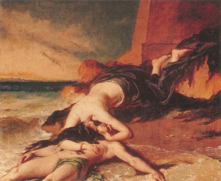 A depiction of Hero and Leander by William Etty