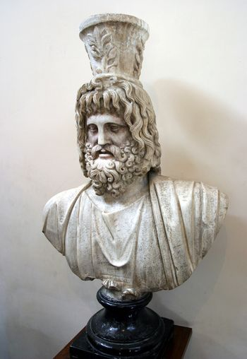A bust of the god Serapis